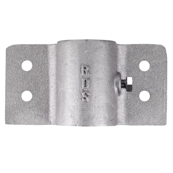2″ (2-3/8) Pipe Side Bracket (PLD002) Front View
