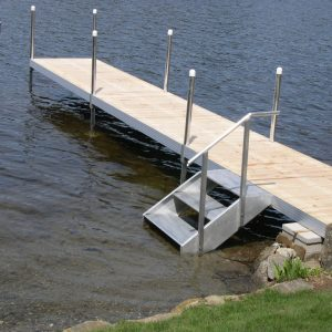 RDS Straight Dock with Aluminum Stairs
