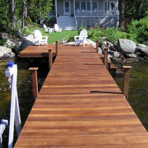 Red Cedar Dock with RDS Dock Hardware