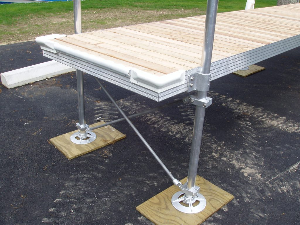 Getting Ready to Install Aluminum Dock Frame with Metal poles